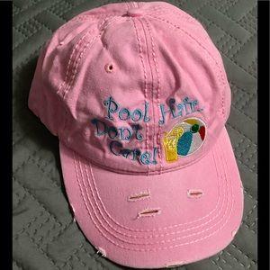 "Accessories - Cute Pink ""Pool hair don't care"" baseball cap.💗⚾️"